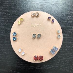 LOFT Jewelry - NWT LOFT 💎 Crystal Stud Earrings Set